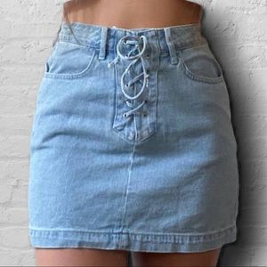 Pacsun lace up skirt